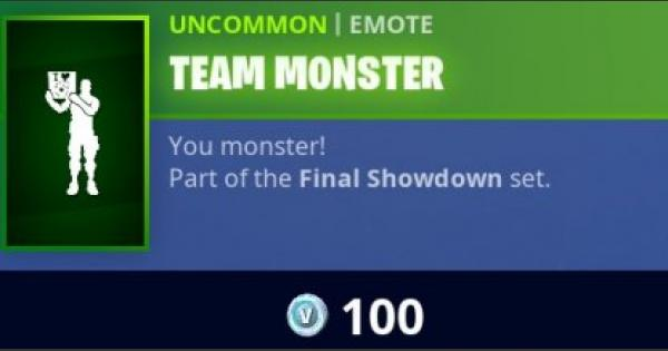 Fortnite | TEAM MONSTER Emote - How To Get - GameWith