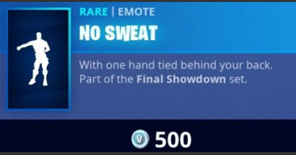 Fortnite | NO SWEAT Emote - How To Get - GameWith