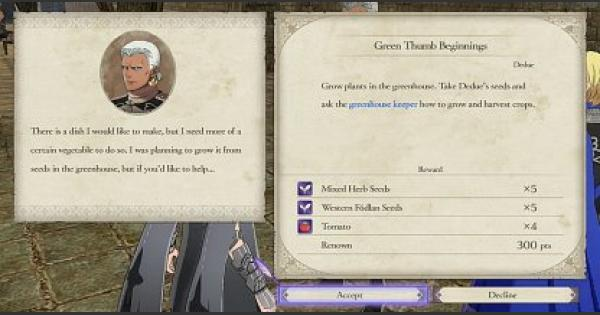 FE3H | Gardening - Benefits & How To Unlock | Fire Emblem Three Houses - GameWith