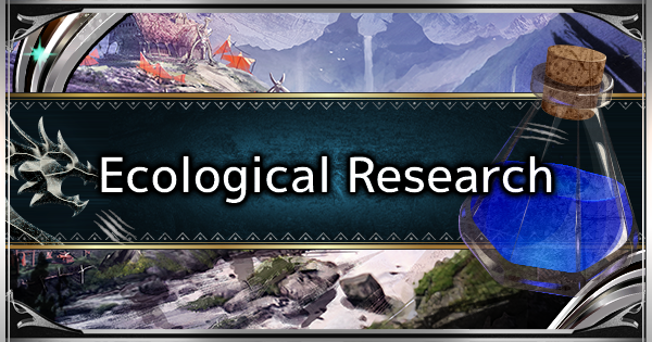 MHW: ICEBORNE | What is the Ecological Research & How to Raise Research Level - GameWith
