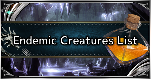 MHW: ICEBORNE | All Endemic Life List - Guide & How to Catch