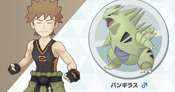 Sygna Suit Brock & Tyranitar - Sync Pair Stats & Moves - Pokemon Masters