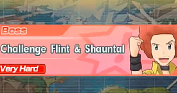 Pokemon Masters | Flint & Shauntal Chapter 12 Co-Op Fight