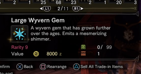 Large Wyvern Gem Fast Farming Guide - MHW: ICEBORNE