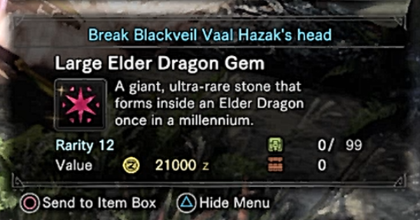 Large Elder Dragon Gem Fast Farming Guide - MHW: ICEBORNE