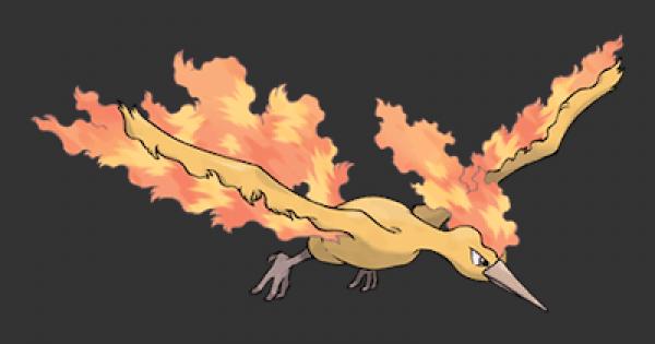 Pokemon Let's Go | Moltres - Stats, Moves, Evolution & Locations