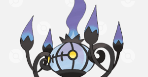 Pokemon Sword and Shield | Chandelure - Location, Base Stats & Movesets
