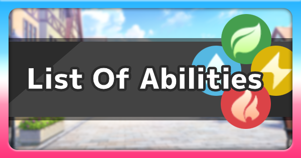 Pokemon Sword Shield | List Of All Abilities