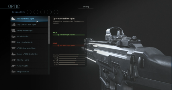CoD: MW 2019 | Operator Reflex Sight - Optic Stats | Call of Duty: Modern Warfare