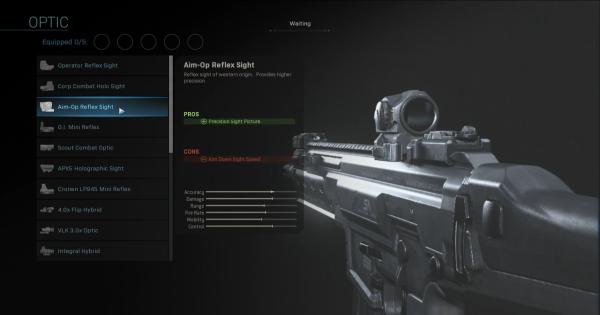 【Warzone】Aim-Op Reflex Sight - Optic Stats【Call of Duty Modern Warfare】 - GameWith