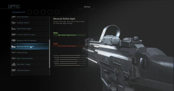 Warzone | Monocle Reflex Sight - Optic Stats | Call of Duty Modern Warfare - GameWith