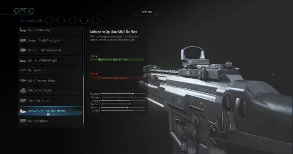Warzone | Solozero Optics Mini Reflex - Optic Stats | Call of Duty Modern Warfare - GameWith