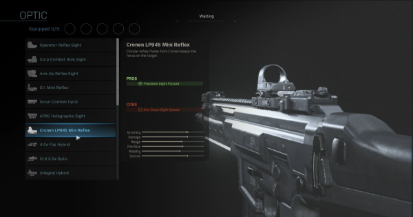【Warzone】Cronen LP945 Mini Reflex - Optic Stats【Call of Duty Modern Warfare】 - GameWith