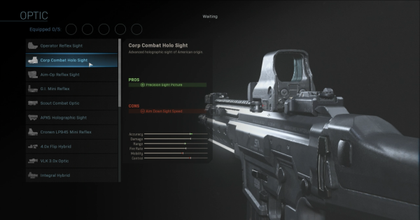Warzone | Corp Combat Holo Sight - Optic Stats | Call of Duty Modern Warfare - GameWith