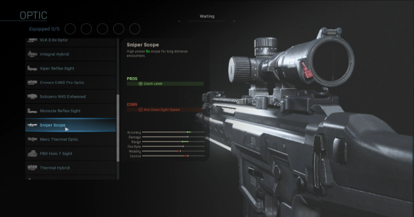 【Warzone】Sniper Scope - Optic Stats【Call of Duty Modern Warfare】 - GameWith