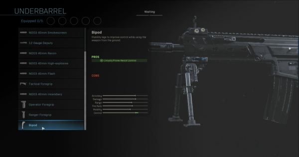 【Warzone】Bipod - Underbarrel Stats【Call of Duty Modern Warfare】 - GameWith