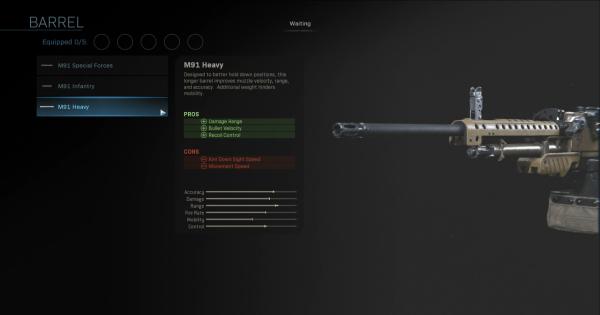 CoD: MW 2019 | M91 Heavy - Barrel Stats | Call of Duty: Modern Warfare