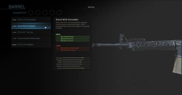 Warzone | Stock M16 Grenadier - Barrel Stats | Call of Duty Modern Warfare - GameWith