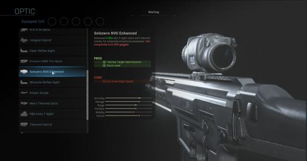 Warzone | Solozero NVG Enhanced - Optic Stats | Call of Duty Modern Warfare - GameWith