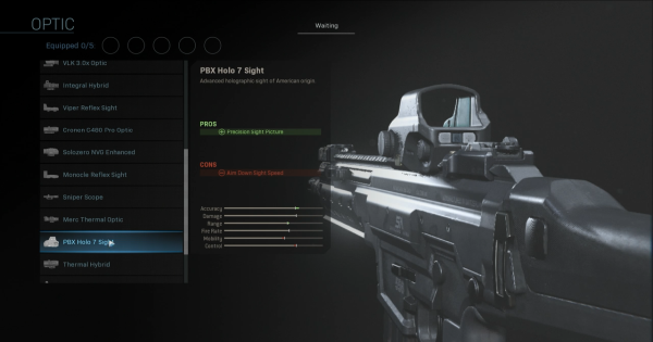 CoD: MW 2019 | PBX Holo 7 Sight - Optic Stats | Call of Duty: Modern Warfare