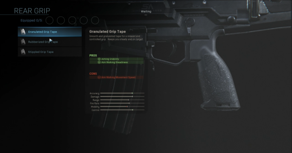 【Warzone】Granulated Grip Tape - Rear Grip Stats【Call of Duty Modern Warfare】 - GameWith
