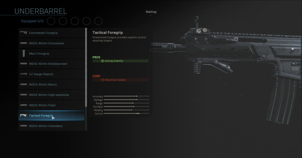 Warzone | Tactical Foregrip - Underbarrel Stats | Call of Duty Modern Warfare - GameWith