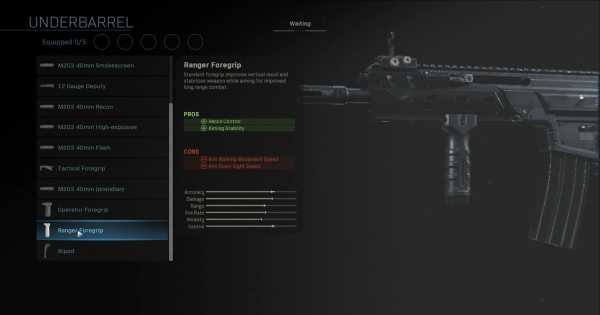 【Warzone】Ranger Foregrip - Underbarrel Stats【Call of Duty Modern Warfare】 - GameWith