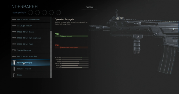 【Warzone】Operator Foregrip - Underbarrel Stats【Call of Duty Modern Warfare】 - GameWith