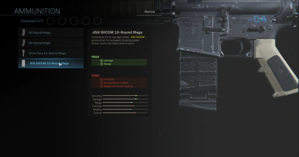 【Warzone】.458 SOCOM 10-Round Mags - Magazine Stats【Call of Duty Modern Warfare】 - GameWith