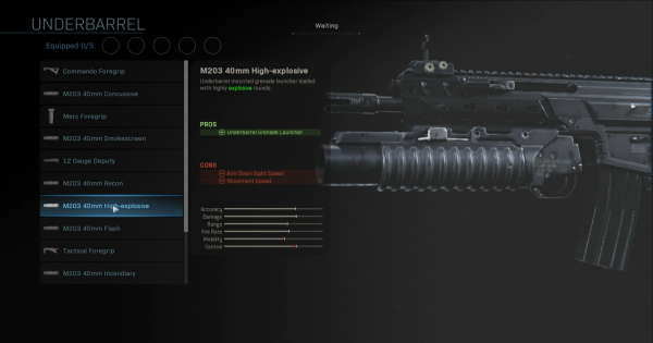 Warzone | M203 40mm High-explosive - Underbarrel Stats | Call of Duty Modern Warfare - GameWith