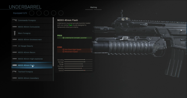 Warzone | M203 40mm Flash - Underbarrel Stats | Call of Duty Modern Warfare - GameWith