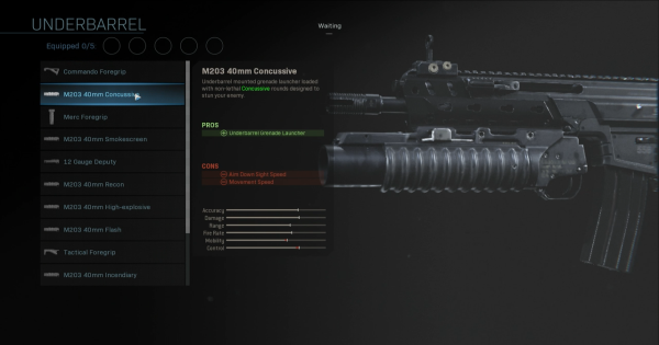 【Warzone】M203 40mm Concussive - Underbarrel Stats【Call of Duty Modern Warfare】 - GameWith