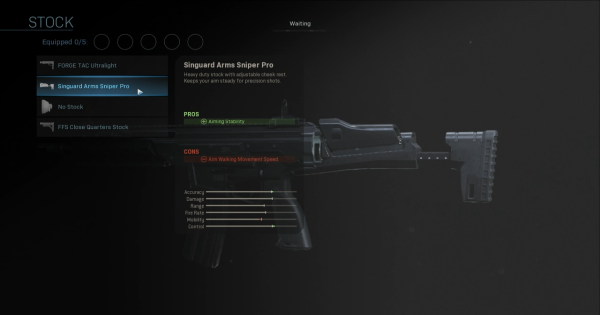 CoD: MW 2019 | Singuard Arms Sniper Pro - Stock Stats | Call of Duty: Modern Warfare