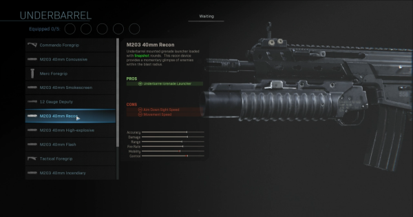 CoD: MW 2019 | M203 40mm Recon - Underbarrel Stats | Call of Duty: Modern Warfare