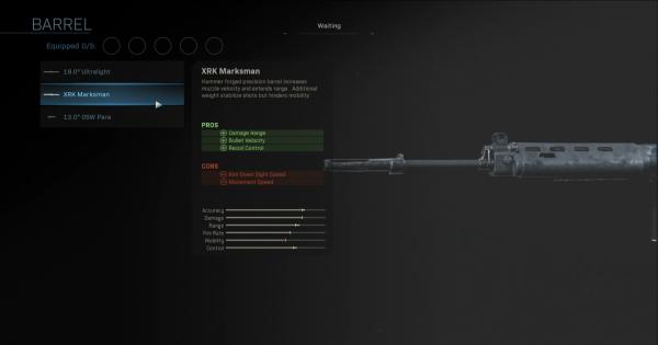 CoD: MW 2019 | XRK Marksman - Barrel Stats | Call of Duty: Modern Warfare