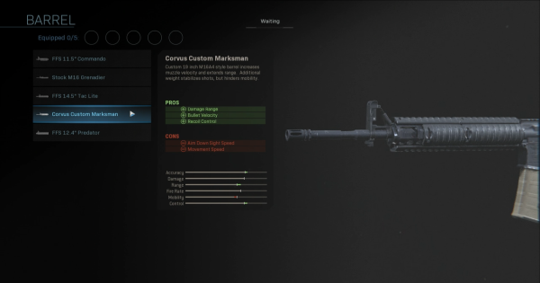 【Warzone】Corvus Custom Marksman - Barrel Stats【Call of Duty Modern Warfare】 - GameWith