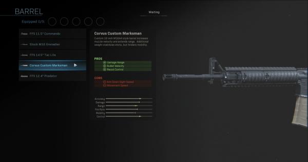 CoD: MW 2019 | Corvus Custom Marksman - Barrel Stats | Call of Duty: Modern Warfare