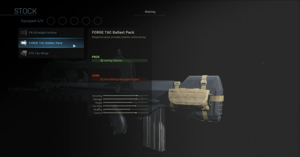 Warzone | FORGE TAC Ballast Pack - Stock Stats | Call of Duty Modern Warfare - GameWith