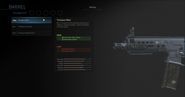 【Warzone】Tempus Mini - Barrel Stats【Call of Duty Modern Warfare】 - GameWith
