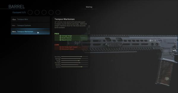 Warzone | Tempus Marksman - Barrel Stats | Call of Duty Modern Warfare - GameWith