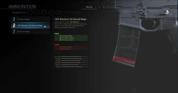 【Warzone】.300 Blackout 30-Round Mags - Magazine Stats【Call of Duty Modern Warfare】 - GameWith