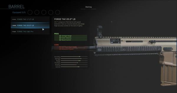 "【Warzone】FORGE TAC 20.0"" LB - Barrel Stats【Call of Duty Modern Warfare】 - GameWith"