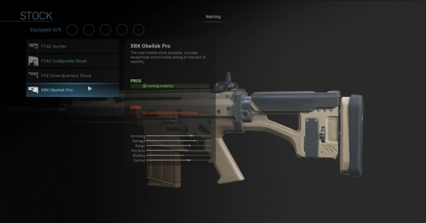 CoD: MW 2019 | XRK Obelisk Pro - Stock Stats | Call of Duty: Modern Warfare