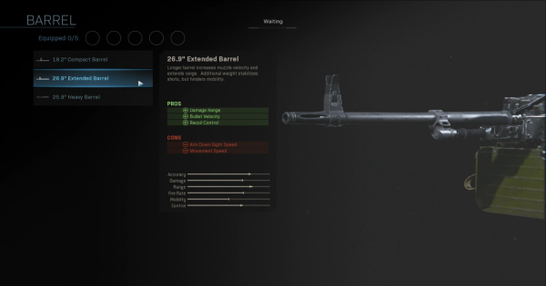 """【Warzone】26.9"""" Extended Barrel - Barrel Stats【Call of Duty Modern Warfare】 - GameWith"""