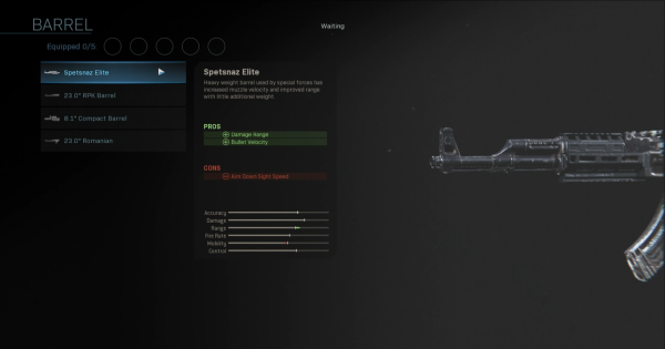 Warzone | Spetsnaz Elite - Barrel Stats | Call of Duty Modern Warfare - GameWith