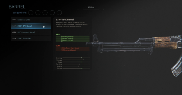 "【Warzone】23.0"" RPK Barrel - Barrel Stats【Call of Duty Modern Warfare】 - GameWith"