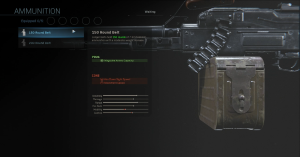 【Warzone】150 Round Belt - Magazine Stats【Call of Duty Modern Warfare】 - GameWith
