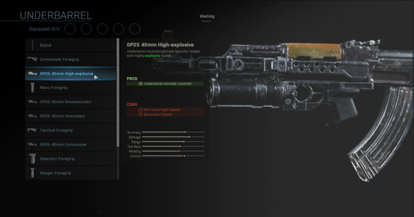 Warzone | GP25 40mm High-explosive - Underbarrel Stats | Call of Duty Modern Warfare - GameWith
