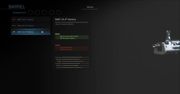 "CoD: MW 2019 | SA87 12.4"" Factory - Barrel Stats | Call of Duty: Modern Warfare"