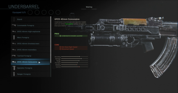 【Warzone】GP25 40mm Concussive - Underbarrel Stats【Call of Duty Modern Warfare】 - GameWith
